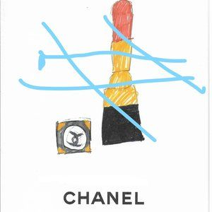 3 authentic CHANEL art print and frame